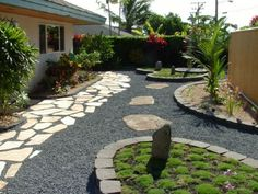 xeriscaped backyard design - interesting, would have to tweak plants for Colorado Xeriscape