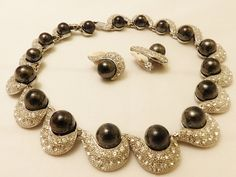 Gorgeous Laura Ramsey Rhinestone and Black by TheJewelryCabinet, $42.50