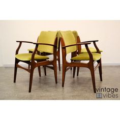 €375 for x4 Dining-Chairs : 4 Teak Dining Chairs - Dining chairs ...