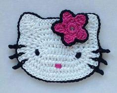 Ideas For Baby Crochet Scarf Hello Kitty Crochet Applique Patterns Free, Crochet Motif, Crochet Yarn, Crochet Flowers, Crochet Stitches, Knitting Patterns, Cute Crochet, Crochet Crafts, Crochet Projects