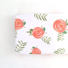 Changing Pad Cover Soft Floral. Change Pad. Changing by Iviebaby