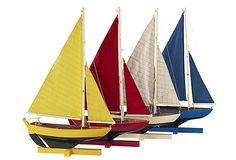 Fleet of Sailboats