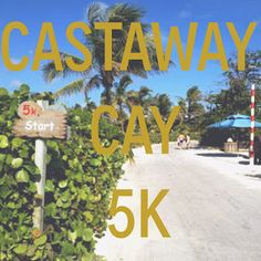 Run Disney FREE race - Castaway Cay, Bahamas 5k.  Tips and information for running the race on the Disney Cruise Line.
