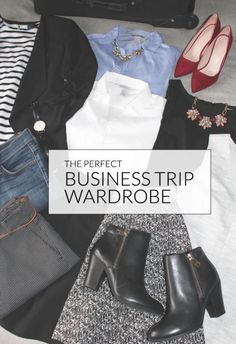 The key to a polished work appearance while traveling is a handful of pieces that you can then accessorize with other elements to keep yourself looking professional on the job. Here are a few key staples...
