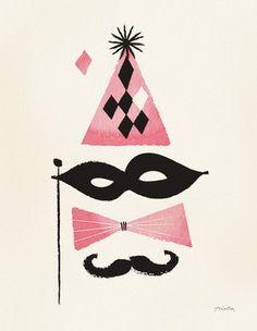 Print Maskerad Poster - by Modelmini 30x40 cm