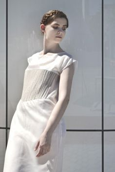 T.Cočevová, kolekce inspirovaná tradicí, fashion, tradition, corset, string, foto: L.Schubertová #design #czechdesign