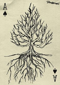 Ace of Spades tree playing card