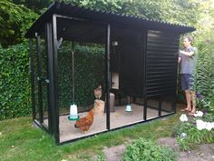 Chicken Coop Ideas 398076054566900503 - Source by lilymelcho Chicken Coop Designs, Small Chicken Coops, Easy Chicken Coop, Chicken Coup, Chicken Garden, Chicken Runs, Backyard Chicken Coop Plans, Chickens Backyard, Duck Coop