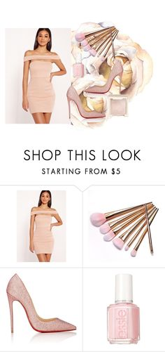 """""""Sin título #643"""" by malvinacabj on Polyvore featuring moda, Missguided, Christian Louboutin, Essie y Jouer"""