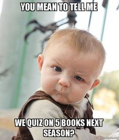 Ha! The most common reaction when teens find out that the next season covers Galatians, Ephesians, Philippians, Colossians, and Philemon.