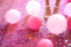 pink balloons x glitter x confetti :: Wedding Crafts, Wedding Tips, Diy Wedding, Color Inspiration, Wedding Inspiration, Jana Williams, Pink Balloons, Party Planning, Confetti