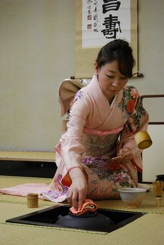 Japan--tea ceremony. Urasenke School technique.