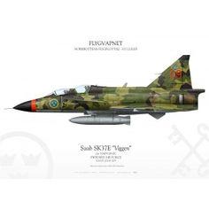 """Saab SK37 """"Viggen"""" FC-09 IK-221"""