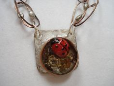Miss Steampunk Ladybug plays in this OOAK by RibbonTapestry, $40.00