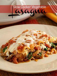 Easy crock pot lasagna