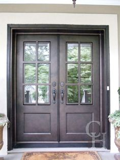 Iron divided light double door clark hall iron doors for Exterior doors charlotte nc