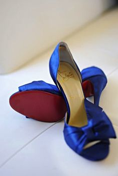 """I have these blue shoes, but don't necessarily have to wear them. Just a potential """"something blue""""."""