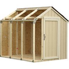 Garden Shed Plans Code: 9771915066 Build A Shed Kit, Diy Shed Kits, Storage Shed Kits, Wood Storage Sheds, Shed Building Plans, Diy Shed Plans, Building Ideas, Backyard Sheds, Outdoor Sheds