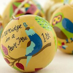 12 Days Ornaments Illustrated by Lisa Congdon for The Land of Nod