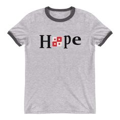 6b8d4d5145b53e Ringer T-Shirt - Hope (also take the cap that goes with this T-shirt)