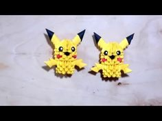 (1) Picachu Origami 3d - YouTube