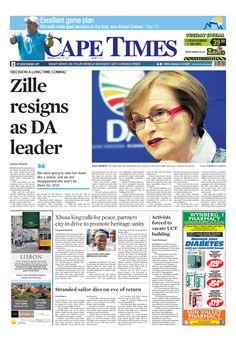 News making headlines: Zille resigns as DA leader