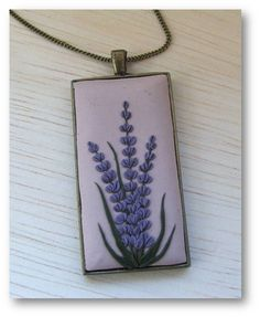 LavenderJewelry Lavender Polymer Clay Jewelry by Floraljewel, $41.00
