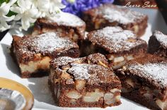 Ciasto ze śliwkami i budyniem Plums And Custard, Sweet Tooth, French Toast, Muffin, Cooking Recipes, Sweets, Breakfast, Food, Magick