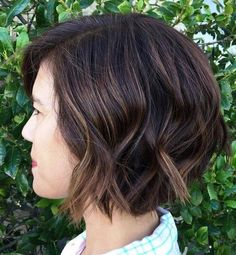 Choppy+Brown+Bob+With+Subtle+Highlights