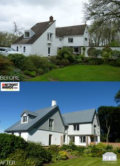 How to completely transform a 1960's home with a contemporary design. Working with the existing shape, the home was saved from demolition and is an AJ Retrofit Awards 2017 Finalist. By Back to Front Exterior Design.