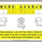 This book contains 9 sheets of Word searches on Forest animals, Mammals, Farm animals, Herbivorous animals, Carnivorous animals, Omnivorous animals...