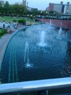 Fountains in Central Park, Connaught Place, New Delhi