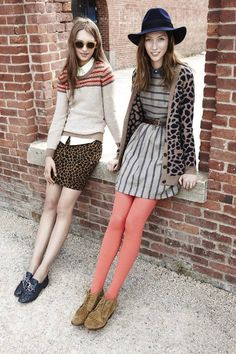 Stripes, Prints, Tights, and Accessories. My fall fashion inspiration.