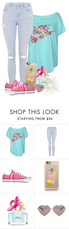 """""""No Test, No Homework, No bookbag, No School, Turn Up!!!"""" by foziya-101 ❤ liked on Polyvore featuring NIKE, Topshop, Converse, Casetify, Marc Jacobs and Wildfox"""