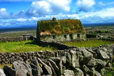 """Quaint Old Cottage by Orla Cahill-makes me think of """"The Quiet Man"""" starring John Wayne and Maureen O'Hara"""