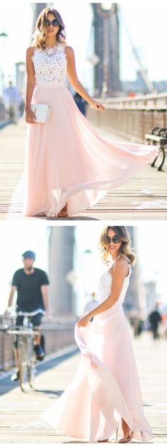 2017 prom dress, long prom dress, pink prom dress, white prom dress