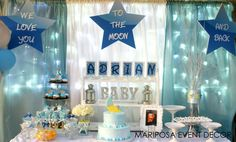 """Photo 1 of 12: Baby Shower/Sip & See """"We Love You To the Moon and Back """"   Catch My Party"""