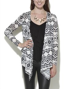 Tribal Printed Hacci Wrap - Sweaters from Wet Seal gotta have this
