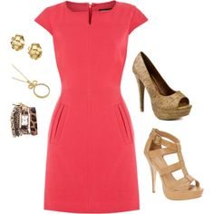 Church Outfit Love the dress, couldn't wear the shoes would wear nude sling backs..