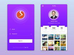 Minimal Design Mobile App UI Kit by Simply Works