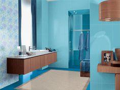 Déco inTérieur BLeu et argent | Salle de bain pour les idées bleu et marron ~ Design Interieur France