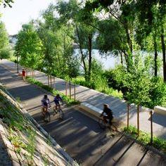 Rhone River Banks by In Situ Architectes Paysagistes