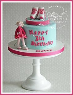 Ice Skating Birthday Cake  Cake by TheMagicalCupcakeCo