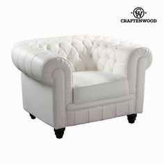 White one-seat sofa by Craftenwood