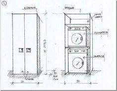 Mobile a colonna per lavatrice e asciugatrice home - Colonna lavatrice asciugatrice ikea ...