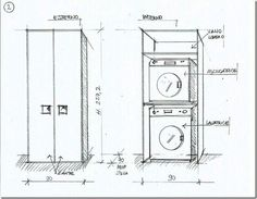 armadio lavanderia su misura