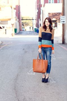 Kendi Everyday - this girl mixes Payless shoes with an Anthropologie sweater and comes out looking phenom!
