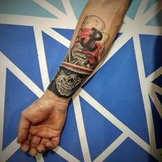 Polish Tattoos, Tattoo Ideas, Tattoo Designs, War Tattoo, Pattern Art, Tattos, Sleeve Tattoos, Poland, Arm
