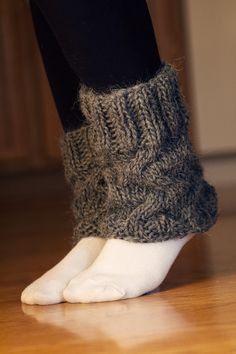 KNITTING PATTERN ONLY for cabled boot cuffs by AddiesmaDesigns, $3.00