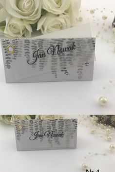 Oryginalna winietka ślubna z kalką, liście Place Cards, Place Card Holders, Alcohol